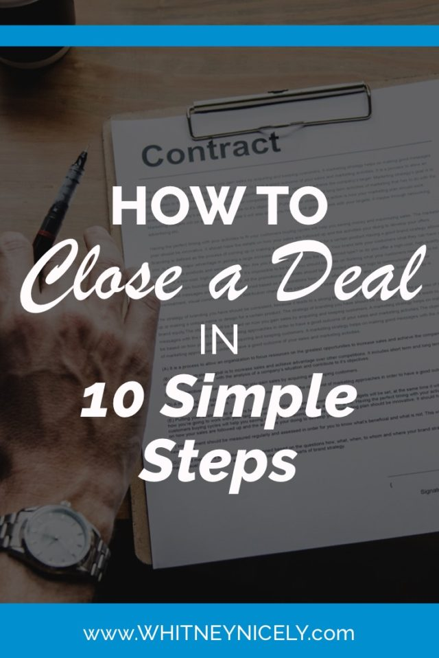 Image How to close a deal in 10 simple steps