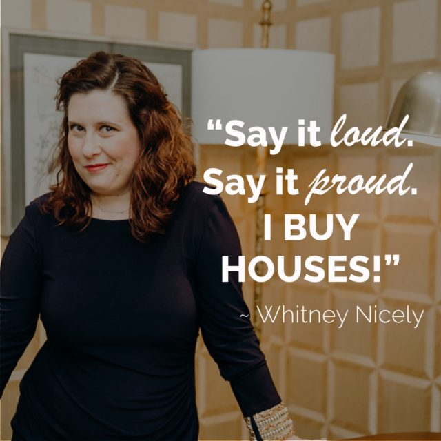 Whitney Nicely standing in room with personal quote to teach how to close a deal in 10 simple steps