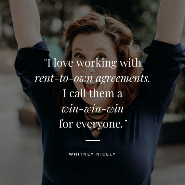 Whitney Nicely rent to own quote
